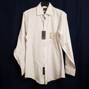 NWT Arrow white fitted button down 15 1/2, 32-33